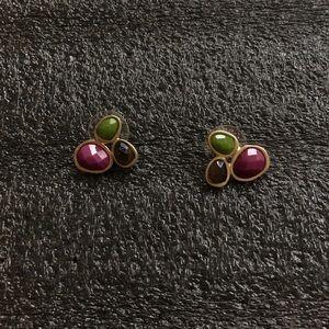 The Sak multi color cluster stud earrings! NWOT